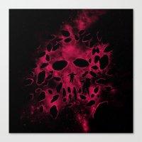Death on Deep Space Canvas Print