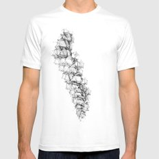 Ascending Order SMALL White Mens Fitted Tee