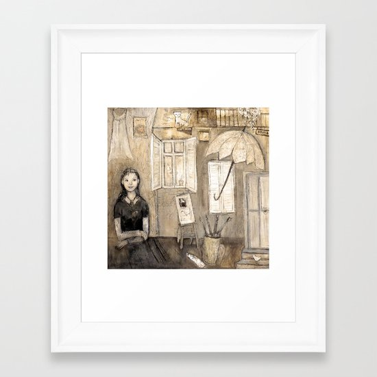 paints her world Framed Art Print