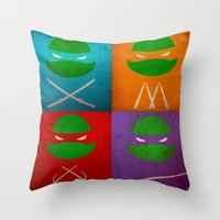 TMNT Collection Throw Pillow