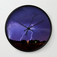 New Mexico Lightning Wall Clock