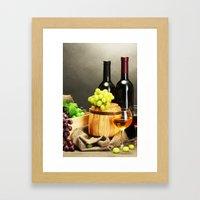 WINE 2 Framed Art Print