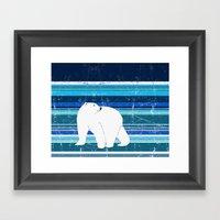Polar Bear Horizontal Framed Art Print
