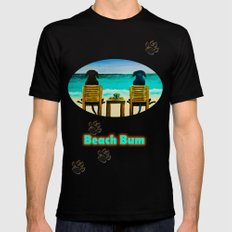 Beach Bums Mens Fitted Tee Black SMALL