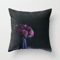 Romance of Peruvian Lilies - Alstroemerias Throw Pillow