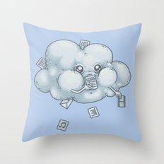 Cloud Storage Throw Pillow