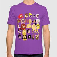 Princess Alphabet Mens Fitted Tee Ultraviolet SMALL