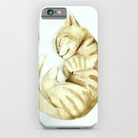 iPhone & iPod Case featuring Sleeping kitty by Sophieelizz