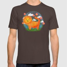 Happy Lion Mens Fitted Tee Brown SMALL