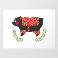 The Ethnic Bear Art Print