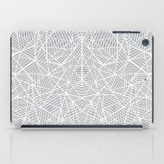Abstract Lace on Grey iPad Case