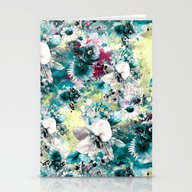 Stationery Cards featuring Blue Garden by RIZA PEKER