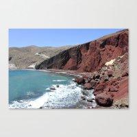 Red Beach Canvas Print