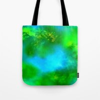 Cosmic Clouds In Green and Blue Tote Bag