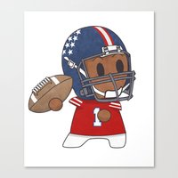 American Football II Canvas Print