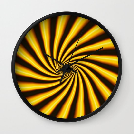 Twisted Sunshine Wall Clock
