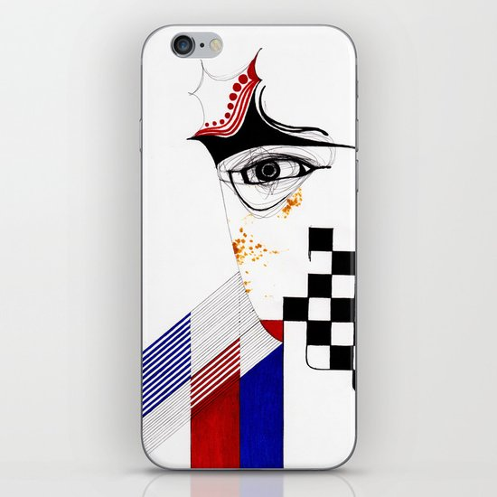 CHECKERS EYE iPhone & iPod Skin