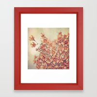 Orange Waxflowers Framed Art Print