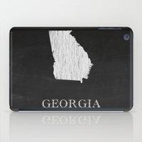 Georgia State Map Chalk Drawing iPad Case