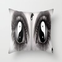 7 Eye Collection: Yin Yang In Your Eyes Throw Pillow