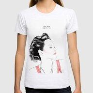 Marion Cotillard - Melan… Womens Fitted Tee Ash Grey SMALL