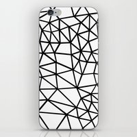 Segment Dense Black on White iPhone & iPod Skin