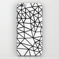 Segment Dense Black On W… iPhone & iPod Skin