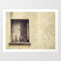 Wood window Art Print