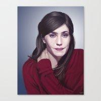 Laura Verlinden, Belgian actress Canvas Print