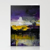 Purple Abstract Landscape Stationery Cards
