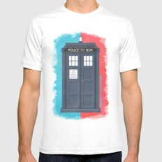 10th Doctor - DOCTOR WHO White Mens Fitted Tee SMALL