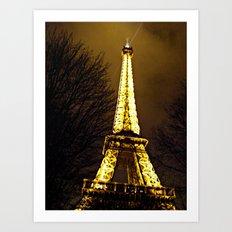 Paris in December Art Print