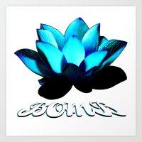 Lotus Flower Bomb Art Print