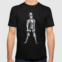 sally c3po Mens Fitted Tee Tri-Black SMALL