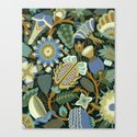 Flower Fantasy in blue Canvas Print
