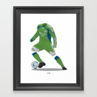 Seattle Sounders 2009/10 Framed Art Print