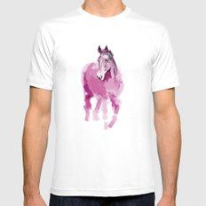 Pink horse White Mens Fitted Tee SMALL