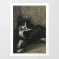 Boris The Cat Art Print