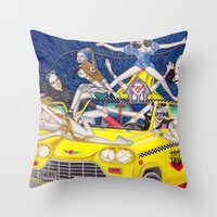 少女時代 - Girls Generation / Gouache Original A4 Illustration / Painting Throw Pillow