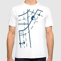 Pattern Master Navy Mens Fitted Tee White SMALL