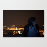 why so shy Canvas Print
