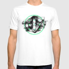 Shower Drain Mens Fitted Tee SMALL White