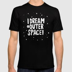 I Dream of Outer Space Mens Fitted Tee SMALL Black