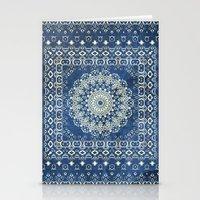 Old Bookshop Magic Mandala in Blue Stationery Cards