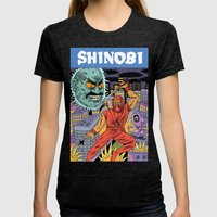 Shinobi Womens Fitted Tee Tri-Black SMALL