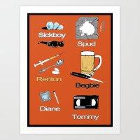Trainspotting vector Art Print