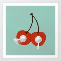 Cherry Topper Art Print