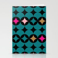 Geometric Blue Stationery Cards