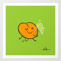 Apricot St Germain Art Print