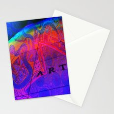 Art Wall Collage Stationery Cards